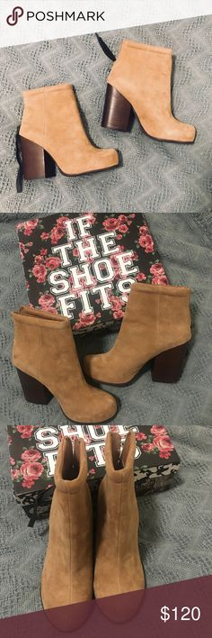// Jeffery Campbell Rumble Taupe Suede Booties like new condition! only worn once or twice. don't show any wear at all. can ship with box Jeffrey Campbell Shoes Ankle Boots & Booties
