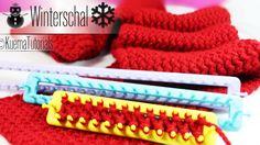 Knitting Loom - einfacher kuscheliger Winterschal