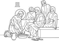 Passion suite 1 - Lavement des pieds, la Cène, Jésus se prépare à mourir.