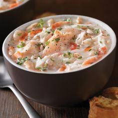 Hearty chunky fish soup with The Surf Café's west coast chowder