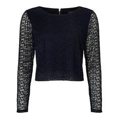 Buy Somerset by Alice Temperley Lace Top, Navy Online at johnlewis.com