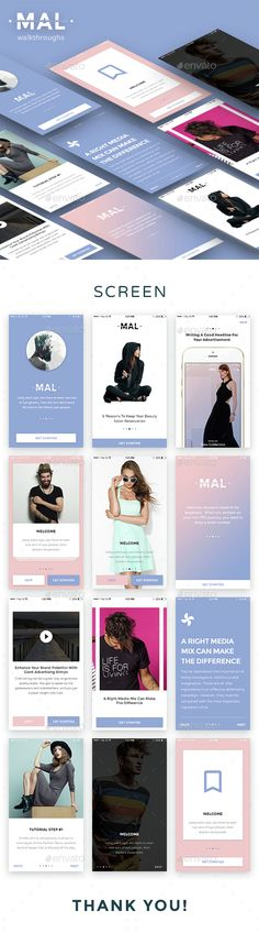 [Mal UI] – Walkthroughs  #ui #walkthroughs • Available here → http://graphicriver.net/item/mal-ui-walkthroughs/15408797?ref=pxcr