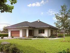 Projekt domu MT Ariel 3 paliwo stałe CE - DOM - gotowy koszt budowy Modern Family House, Modern Bungalow House, Modern House Design, My House Plans, Small House Plans, House Floor Plans, Home Garden Design, Home Design Plans, Three Bedroom House