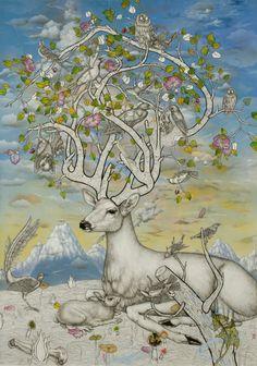 """Jon Rappleye  """"In Splendid Song Poised on Slender Stem and Crimson Bloom""""  2008"""