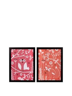 Set of 2 Fox and Owl Canvas Wall Art Prints, http://www.woolworths.co.uk/graham-brown-set-of-2-fox-and-owl-canvas-wall-art-prints/1269627479.prd