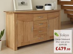 Oak Furnitureland offers great value solid wood furniture and sofas, made for life. Large Sideboard, Solid Wood Furniture, Solid Oak, Hardwood, Woodworking, Cabinet, Storage, Tokyo, Workshop