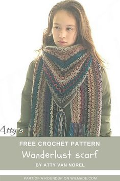 Looking for a triangle shawl crochet pattern? Here you can find a roundup of 10 free #crochet #patterns! Visit wilmade.com for more inspiration.