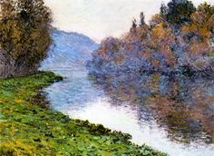 The Athenaeum - Banks of the Seine at Jenfosse: Clear Weather (Claude Oscar Monet - )