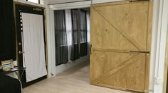 Stained barn door Facial Room, Scalp Micropigmentation, Beauty Lounge, Facials, Eyebrow, Tall Cabinet Storage, Spa, Barn, Rooms