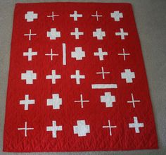 swiss quilt patterns | ... widths of the plusesand lines in this quilt. feel free tomix it up