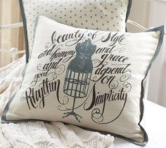 Dress Form Pillow Cover #potterybarn
