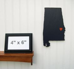 """Auburn Tigers """"State Heart"""" wall art, handcrafted wood with official team colors $29.00"""