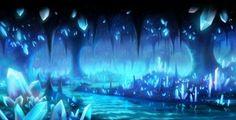 Beautiful Dark Cave | Cave - anime, crystal, landscape, scene, cave, beautiful, magic, dark ...