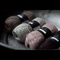 There are inspiring and INSPIRING yarns. These Isager beauties belong to the latter group. I was about to make Kappa shawl of these, but they would make a nice stripey thing as well... Hmmmm...  #isager #alpaca1 #yarn #knitting #lankakauppakera #lankakauppakerä #tampere #lys #diy