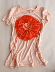~Ruffles And Stuff~: Color My Summer Flower Tee Tutorial!