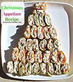 Christmas Appetizer Recipe: Christmas Tree Pinwheels