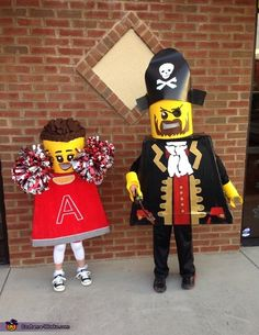 Lego Minifigures: Pirate and Cheerleader Homemade Costumes