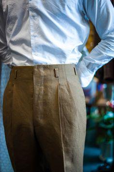 B&TAILOR Belt Trousers