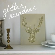 glitter reindeer-I'm seeing a glitter pattern for myself here!