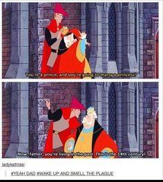 Throw away lines in Disney movies are the best + that comment Disney Pixar, Disney Jokes, Disney And Dreamworks, Disney Magic, Funny Disney, Disney Villains, Tumblr Funny, Funny Memes, Hilarious