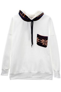Fashion Warm Drawstring Graphic Print HoodieOASAP Giveaway, 10 pieces per day, till the end of 2014! Easiest way to get free clothing!