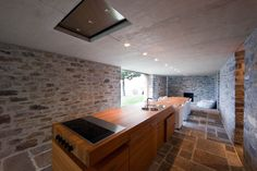 Stone House KÜ in Brione sopra Minusio, Ticino, Switzerland. Interior Architecture, Interior Design, Stone, Switzerland, Kitchens, Interiors, Home Decor, Photography, Stone Houses