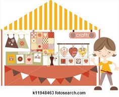 Crafts- Market /Craft fair with sta View Large Illustration
