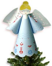 Who watches over your tree? Let this Angel Tree Topper from HP Holiday HQ. Just print and build, right at home!