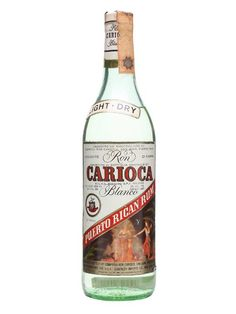 An old bottle of blanco rum from Carioca, produced in Puerto Rico and released sometime in the 1970s. It
