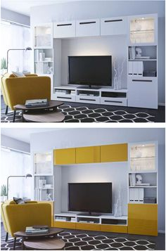 BestÅ Tv Storage Combination/glass Doors, Marviken White