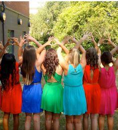 Sigma Kappa dresses on Philanthropy Day