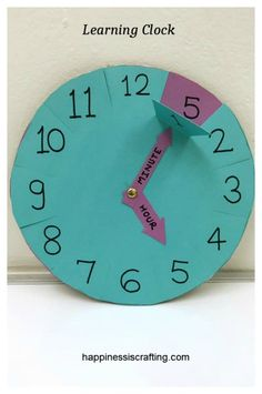 (adsbygoogle = window.adsbygoogle || []).push({}); Here is an educational craft project for kids – Learning Clock. This can be easily made at home and help your kids understand how the minute… #teachingchildrenmathematics