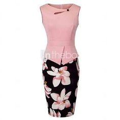 Homeyee Women's Elegant Chic Bodycon Formal Dress (XL, Light Pink): Sleeveless Size Information(just for reference):/b br brSize br brSize br brSize br brSize br brSize br brS. Elegant Dresses, Casual Dresses, Fashion Dresses, Ladies Formal Dresses, Semi Formal Attire For Women, Work Dresses, Elegante Y Chic, Bodycon Dress Formal, Mode Glamour