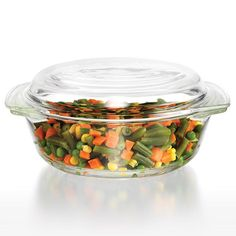 Avon Living Ready to Serve Collection Glass Casserole Dish with Lid