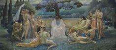 The School of Plato, 1898, Paris: Musée d'Orsay, Jean Delville