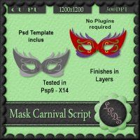 Mask Carnival Script [Designs by seve] - $3.00 : LowBudgetScrapping
