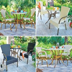 Provence Outdoor Dining Table & Chairs is our French-inspired bistro set…a perfect fit for small spaces. Patio Dining, Dining Table Chairs, Outdoor Dining, Outdoor Decor, Apartment Porch, Space Saving Storage, Bistro Set, Dining Sets, Create Space