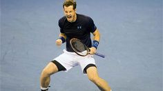 Andy Murray jumped up and down with his jubilant teammates in a celebration huddle after beating John Isner 7-6 (4), 6-3, 7-6 (4) on Sunday to clinch Britain's first-round victory over the United States. It was the second straight year that Britain has ousted the Americans at this stage in the World Group.
