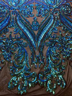 15 Colors Alaina Curlicue Sequins on Mesh Lace Fabric by the Yard - 10018 Western Show Clothes, Horse Show Clothes, Riding Clothes, Western Outfits, Sequin Fabric, Lace Fabric, Showmanship Jacket, Trick Riding, Ballroom Dress