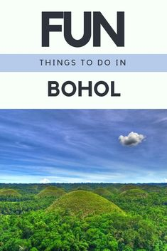 Bohol Philippines. Fun Things to Do in Bohol, Philippines, with this short travel guide on things to do on bohol you will never be bored.   #Bohol #Philippines #island