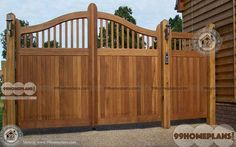Stunning and Elegant Wall Compound Gate Design Ideas & Create your Dream Home Gates with Latest Modern wooden stylish Simple Classic Model Gate Collections Wrought Iron Driveway Gates, Timber Gates, Gates Driveway, Fence Gates, Wood Fences, Front Fence, Front Gate Design, House Gate Design, Wooden Garden Gate