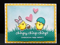 Lawn Fawn Chirpy Chirp card by Apearl B