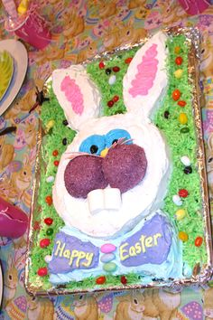 Easy to do with kids. Bunny cake