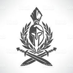 Sparta coat of arms vetor e ilustração royalty-free royalty-free Body Art Tattoos, Sleeve Tattoos, Cool Tattoos, Sparta Tattoo, Paar Tattoo, Spartan Warrior, Geniale Tattoos, Coat Of Arms, Free Vector Art