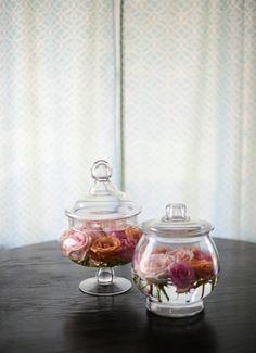 Glas Schale Rosen Lebendig Schwimmende Deko