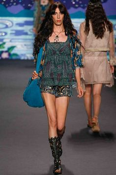 """""""Art Nouveau meets a Band-aid in Haight Ashbury"""" -Suzy Kellems Dominik   Anna Sui Spring 2014 Ready-to-Wear Collection"""