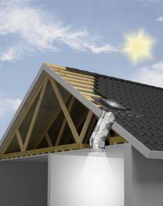 Túnel solar para techo inclinado de VELUX