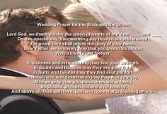 I'm not religious but this would be nice to hear on our special day.