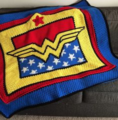 Superhero crochet patterns and blankets. Graphghan patterns include Batman, Superman, Wonder Woman, purses, toys, novelties.