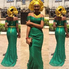 9 Reasons why hating Green is bad for you and 12 Green Aso ebi styles